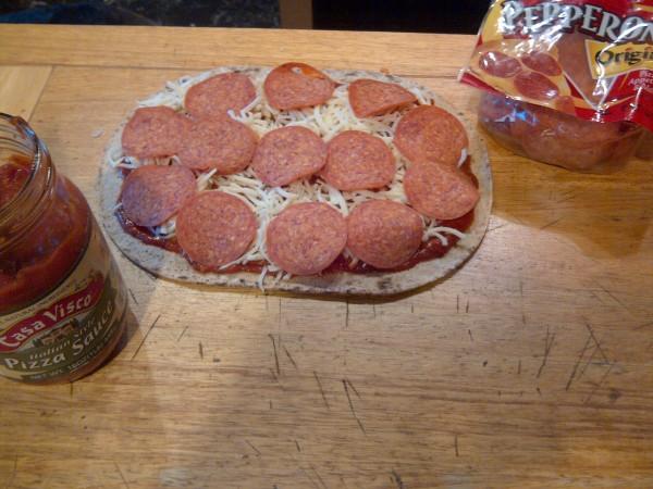 Flat-bread Pizza Prep