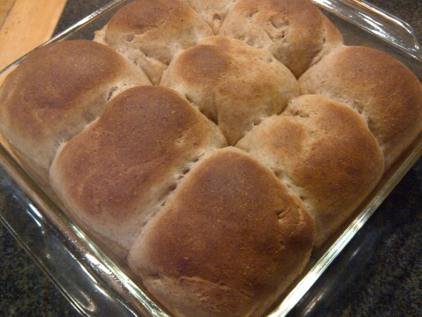 Whole Wheat Rolls Fresh From Oven