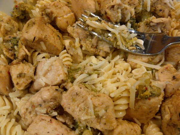Italian Herb Chicken and Broccoli with Noodles
